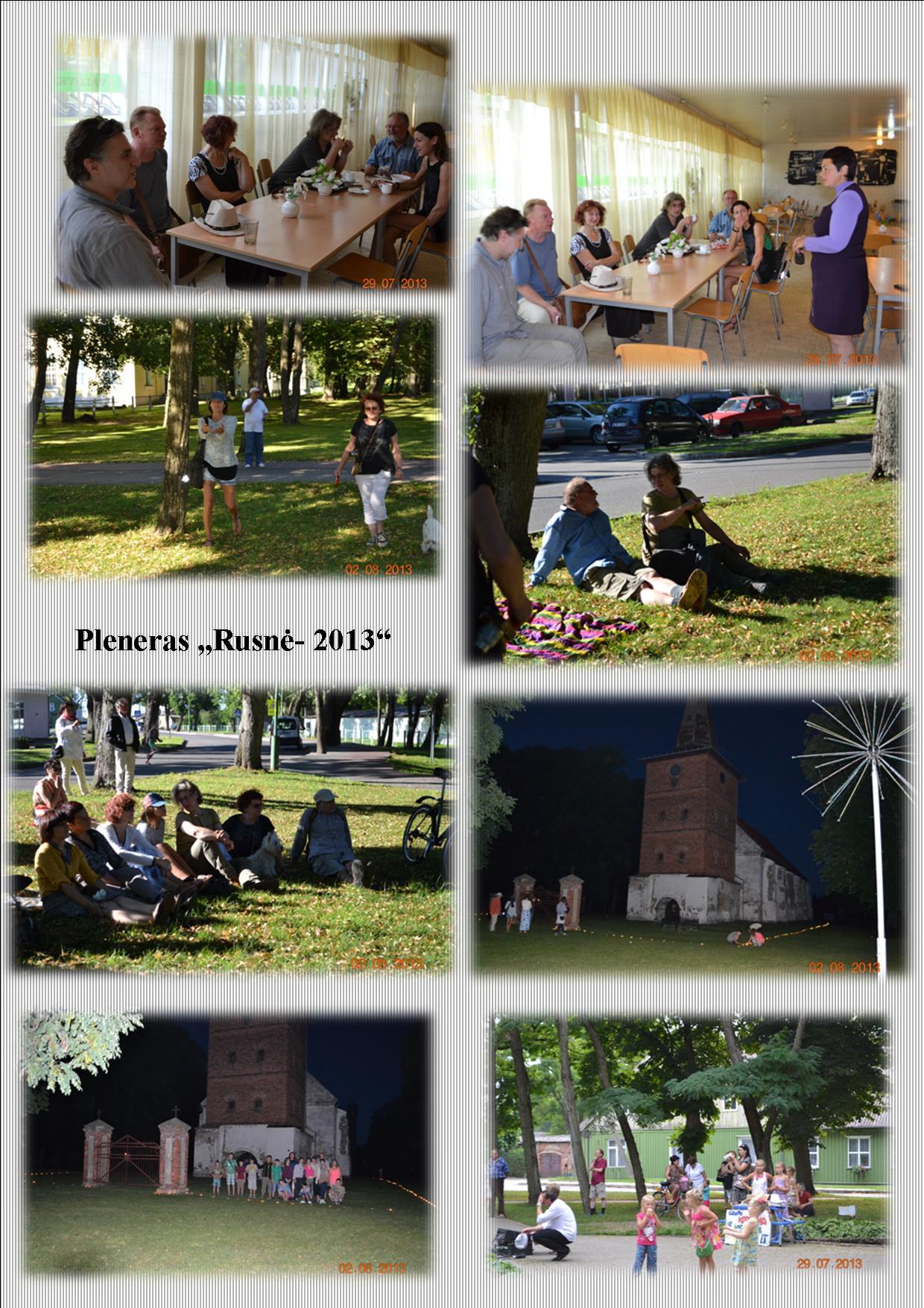 2013 m pleneras nuotraukose