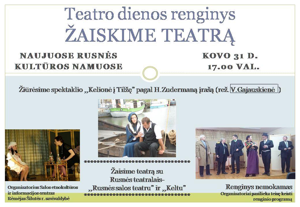 Teatro dienos renginys
