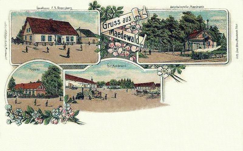 Usėnai- Maedewald. Atvirukas 1900 m.