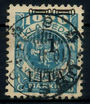 MEMEL-1923-Nr-182III-USENAI-a-zentrisch-gestempelt-ATTEST-7B23FE
